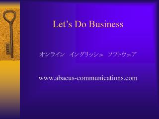 let s do business      abacus-communications