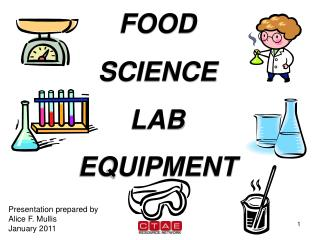 FOOD SCIENCE LAB  EQUIPMENT