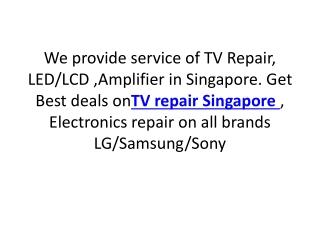 TV Repair Singapore