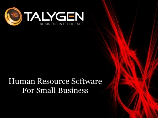 Human Resource Software For Small Business - Talygen