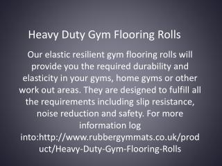 Heavy Duty Gym Flooring Rolls