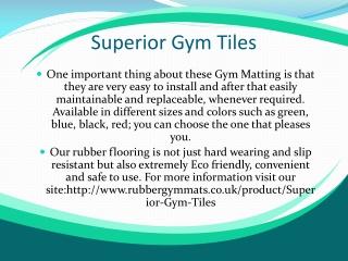 Superior Gym Tiles