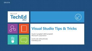 Visual Studio Tips  Tricks
