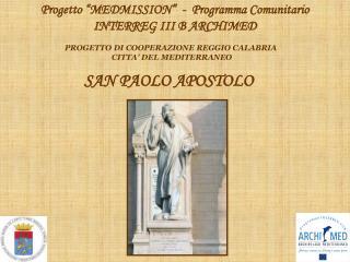 PROGETTO DI COOPERAZIONE REGGIO CALABRIA  CITTA  DEL MEDITERRANEO
