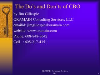 the do s and don ts of cbo