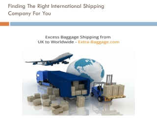 Excess Baggage Shipping from UK to Worldwide - Extra-Baggage