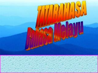 TATABAHASA