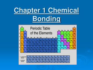 Chapter 1 Chemical Bonding