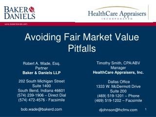 Avoiding Fair Market Value Pitfalls