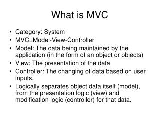 What is MVC