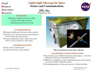 Lightweight Telescope for Space Science and Communications