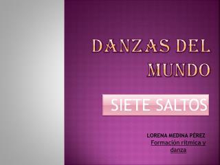 DANZAS DEL MUNDO