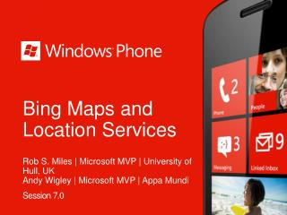 Bing Maps and Location Services