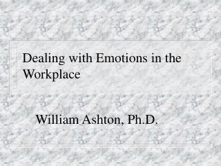 dealing with emotions in the workplace