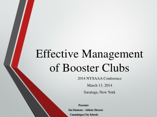 Effective Management of Booster Clubs (2014)