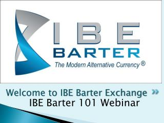 Welcome to IBE Barter Exchange