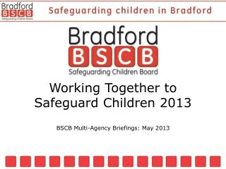 Working Together to Safeguard Children 2013