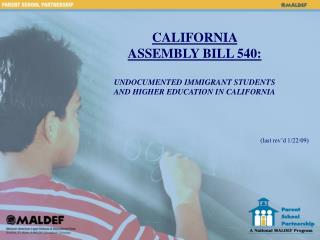 california  assembly bill 540:   undocumented immigrant students  and higher education in california