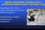 MODEL PROGRAM: TRAINING EARLY INTERVENTIONISTS ABOUT HEARING LOSS