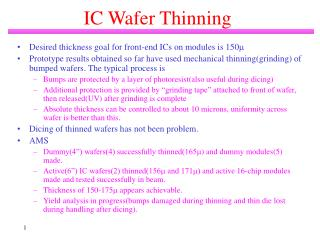 IC Wafer Thinning