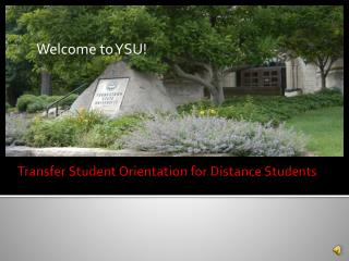 Transfer Student Orientation for Distance Students