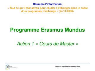 Programme Erasmus Mundus