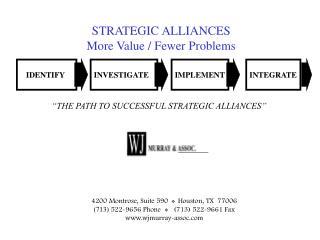 STRATEGIC ALLIANCES  More Value