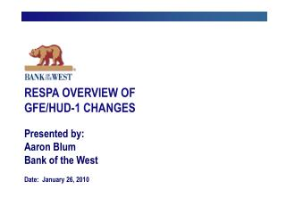 respa overview of gfehud-1 changes