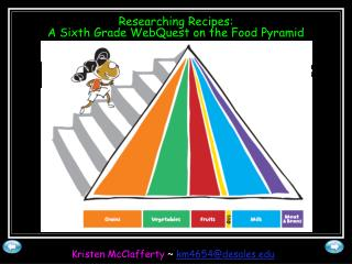 Researching Recipes: A Sixth Grade WebQuest on the Food Pyramid