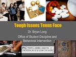 Tough Issues Teens Face