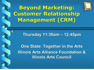 beyond marketing: customer relationship management crm