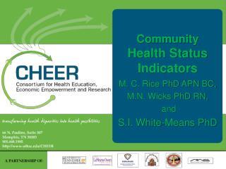 Community Health Status  Indicators