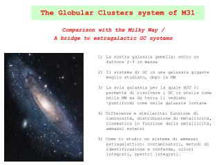 The Globular Clusters system of M31