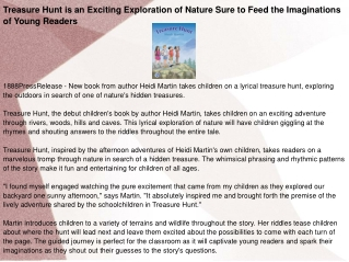 Treasure Hunt is an Exciting Exploration of Nature Sure