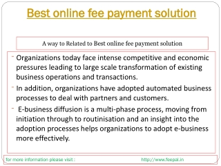 Feepal provide batter services for best online fee payment s