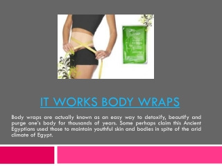 Do Body Wraps Work