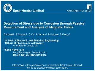Detection of Stress due to Corrosion through Passive Measurement and Analysis of Magnetic Fields
