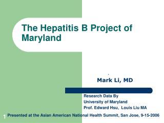 the hepatitis b project of maryland