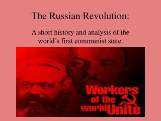 the russian revolution: