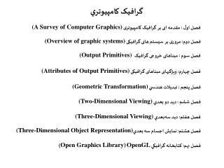 :       A Survey of Computer Graphics