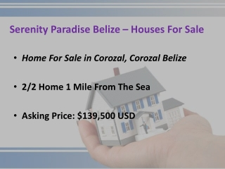 Moving to Belize | Corozal Ocean frontage for sale Belize
