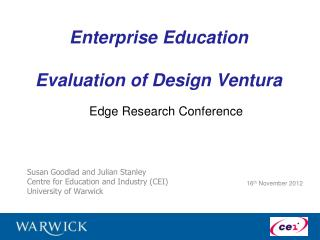 Enterprise Education  Evaluation of Design Ventura