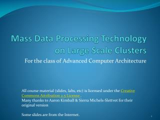 mass data processing technology on large scale clusters