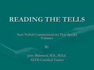 READING THE TELLS