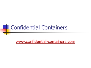 Confidential Containers