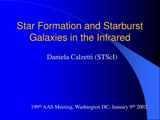 Star Formation and Starburst Galaxies in the Infrared