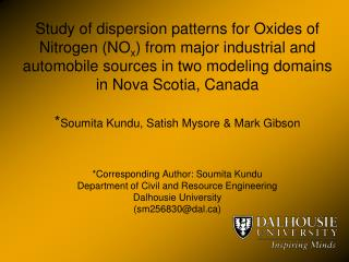Study of dispersion patterns for Oxides of Nitrogen NOx from major industrial and automobile sources in two modeling dom