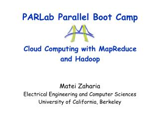 parlab parallel boot camp cloud computing with mapreducenbs