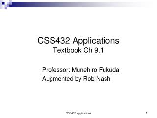 CSS432 Applications Textbook Ch 9.1