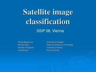Satellite image  classification